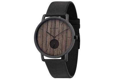 Kerbholz Fritz horlogeband Walnut/Midnight Black