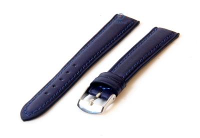 Horlogeband 14mm marineblauw kalfsleer