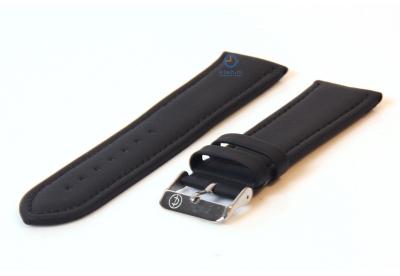 Horlogeband 28mm zwart leer