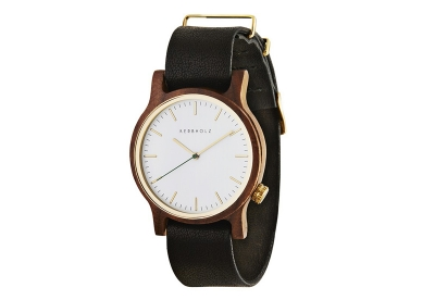 Kerbholz Wilma horlogeband Walnut Black