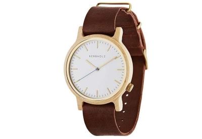 Kerbholz Walter horlogeband Maple Cognac
