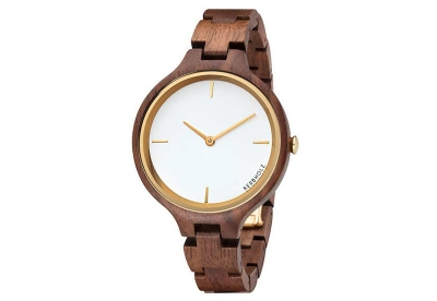 Kerbholz Hinze horlogeband Walnut Gold
