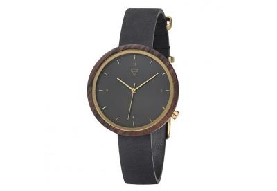 Kerbholz Hilde horlogeband Sandalwood/midnight black