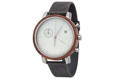Kerbholz Franz horlogeband walnut/asphalt