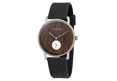 Kerbholz horlogeband Fritz Walnut Midnight Black
