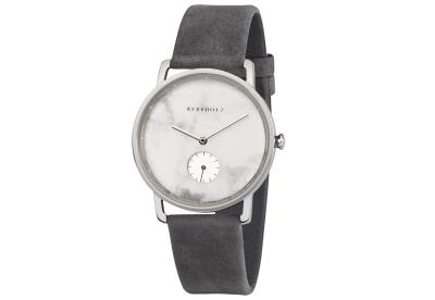 Kerbholz Frida horlogeband White Marble/Asphalt