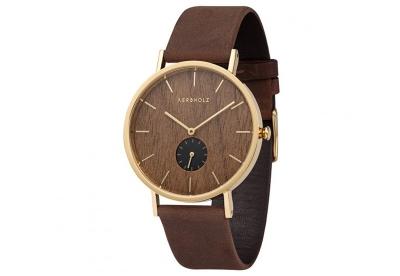 Kerbholz Fritz horlogeband Walnut/Tobacco