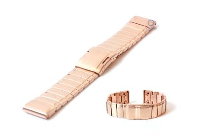 Garmin Fenix 5/6 horlogeband staal rose goud