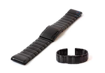 Garmin Fenix 5/6 horlogeband staal zwart