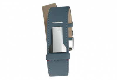 Klokers horlogeband straight blauw leer