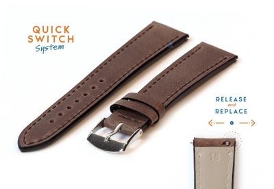 Horlogeband 18mm kalfsleer nut