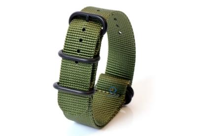 Horlogeband nylon 24mm groen