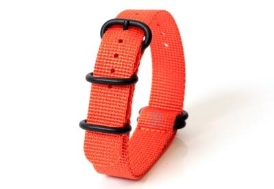 Horlogeband nylon 18mm oranje