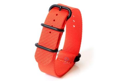 Horlogeband nylon 22mm oranje