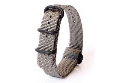 Horlogeband nylon 20mm grijs