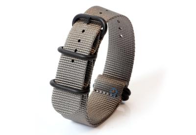 Horlogeband nylon 22mm grijs