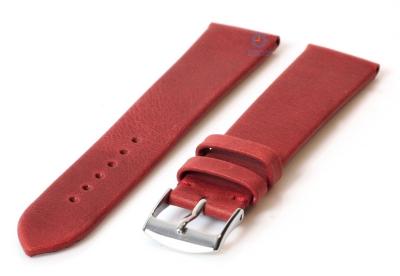 Horlogeband 18mm wijnrood leer