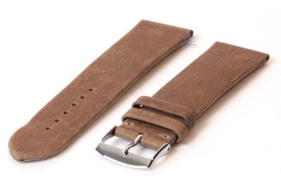 Horlogeband 24mm klei bruin leer