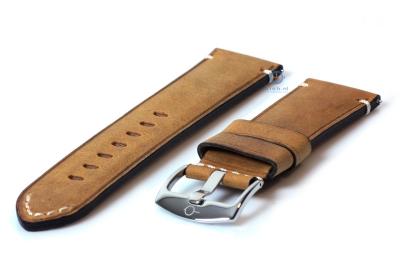 Vintage horlogeband 24mm lichtbruin