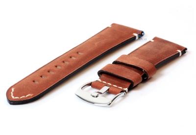 Vintage horlogeband 24mm bruin