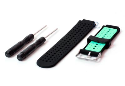 Garmin Forerunner 230 horlogeband zwart/mint groen