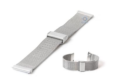 Horlogeband 22mm milanees zilver (grof)