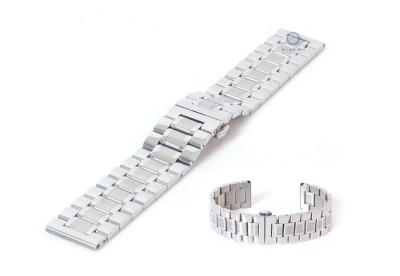 Horlogeband 20mm staal zilver mat/glans