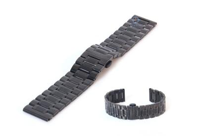 Horlogeband 20mm staal mat zwart