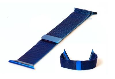 Apple watch horlogeband milanees blauw (42mm/44mm)