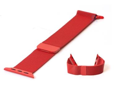 Apple watch horlogeband milanees rood (42mm/44mm)