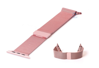 Apple watch horlogeband milanees roze (38mm/40mm)