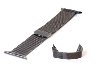 Apple watch horlogeband milanees gunmetal (38mm/40mm)