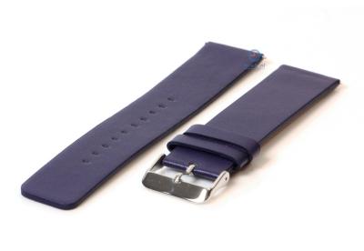 Fitbit Versa horlogeband leer donker blauw