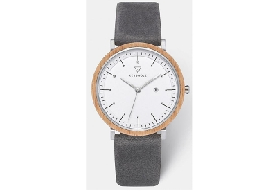 Kerbholz horlogeband Amelie Oak Slate Grey