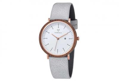 Kerbholz horlogeband Amelie Walnut Artic