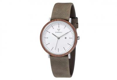 Kerbholz horlogeband Amelie Walnut Olive