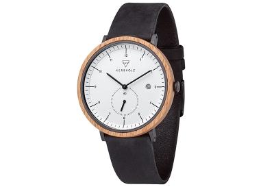 Kerbholz horlogeband Anton Oak Midnight Black
