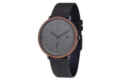 Kerbholz horlogeband Anton Walnut Midnight Black