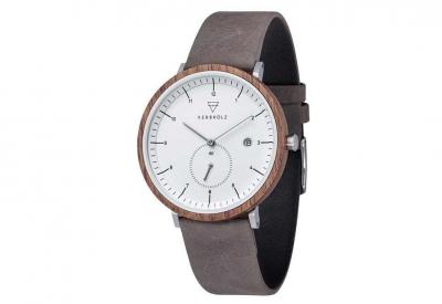 Kerbholz horlogeband Anton Walnut Grey