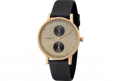 Kerbholz horlogeband Clara Golden Slate