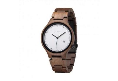 Kerbholz horlogeband Lamprecht Date Walnut