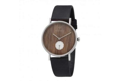 Kerbholz horlogeband Frida Silver Walnut