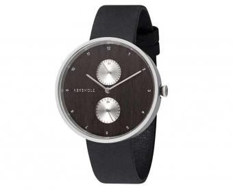 Kerbholz horlogeband Emil Silver Wood