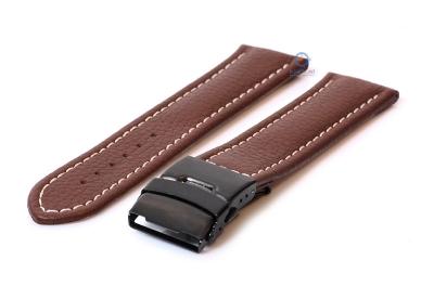 Gisoni Horlogeband 22mm bruin kalfsleer