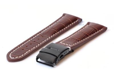 Gisoni Horlogeband 22mm bruin croco