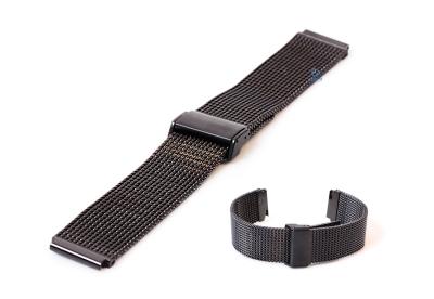 Horlogeband 18mm milanees zwart (grof)