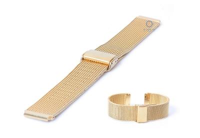 Horlogeband 18mm milanees goud (grof)