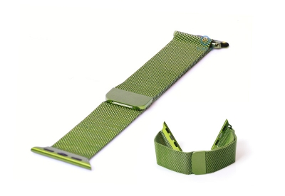Apple watch horlogeband milanees groen (42mm/44mm)