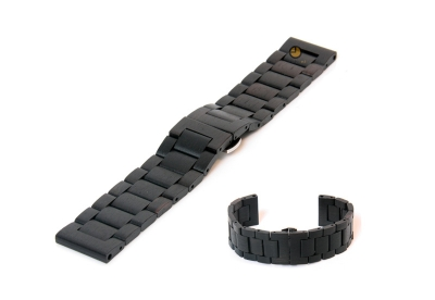 Houten horlogeband 20mm zwart (Blackwood)