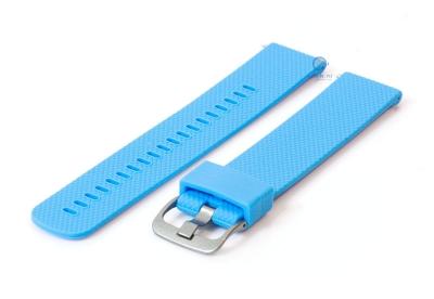 Horlogeband 20mm siliconen licht blauw